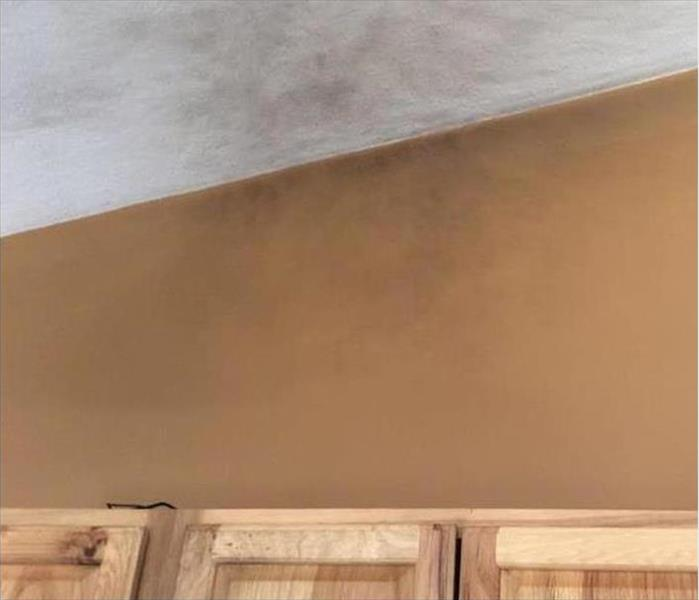 Lakeland Smoke Stained Ceiling Before
